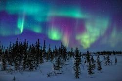 Colorful Aurora Borealis Display