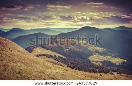 colorful autumn landscape in...