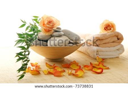 Colorful background made of some beautiful spa elements