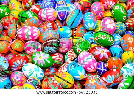 Colorful background of eastern eggs
