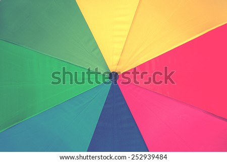 colorful background of umbrella rainbow, instagram effect filter