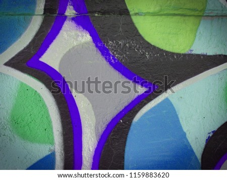 Colorful background. Rectangle divided in steel blue, light steel blue and dim grey parts. Frame for text or logo. Triangles, stripes and squares. #1159883620