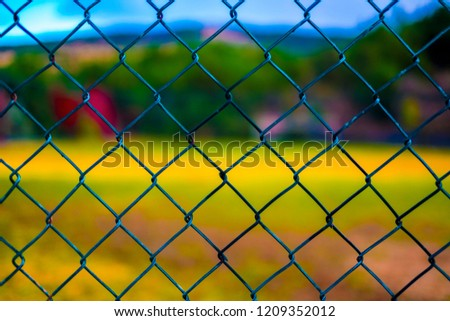 colorful background, wire fence Stok fotoğraf ©