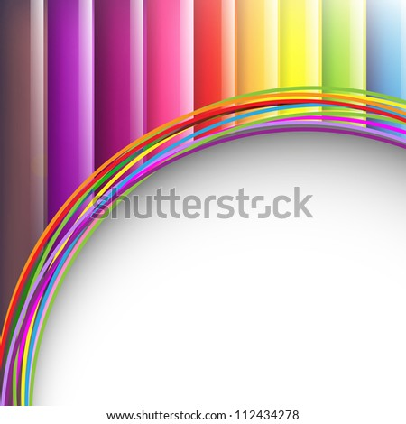 Colorful Background With Abstract Lines Design