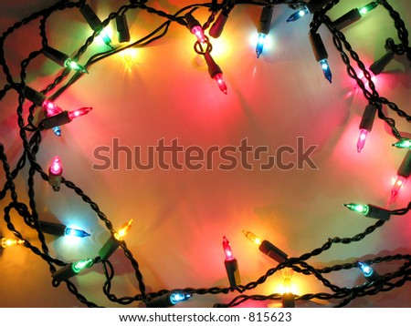 Colorful background with Christmas lights