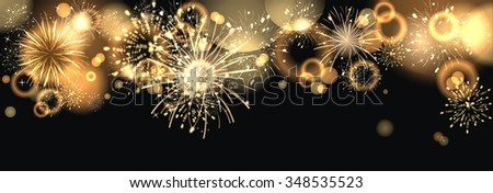 colorful Background with fireworks