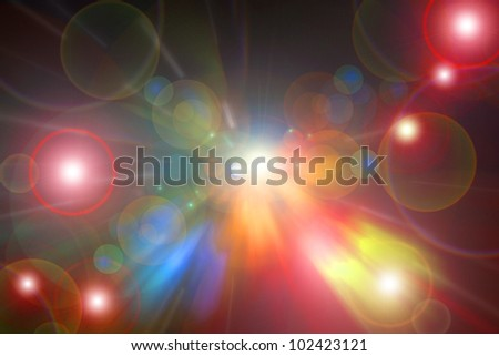Colorful background with flares