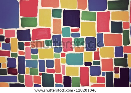 colorful backgrounds,vintage  style - stock photo