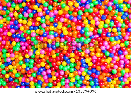 colorful ball and colorful of background