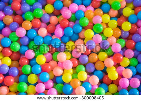 colorful ball, children\'s party, a games room, a box filled with small colored balls