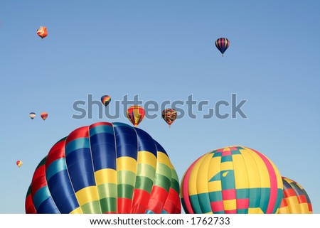 Colorful balloon show