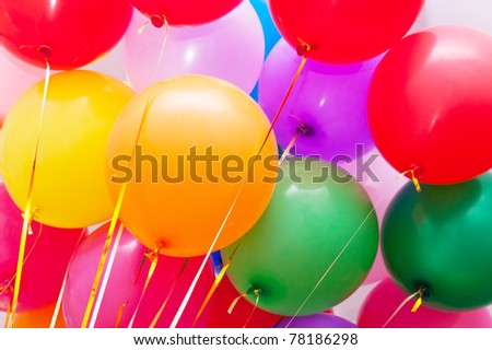 Colorful balloons. Can be used as background