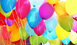 Colorful balloons, filling the picture