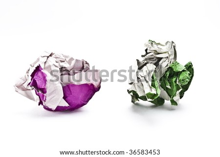 Colorful balls of paper
