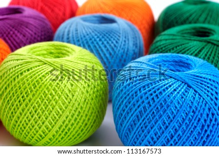 colorful balls on a white background, studio isolated