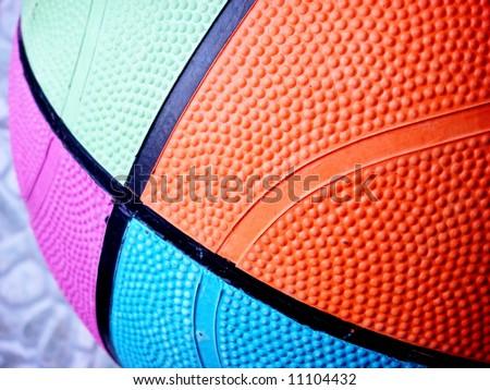Colorful Basketball texture
