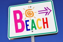 Colorful Beach Access Sign