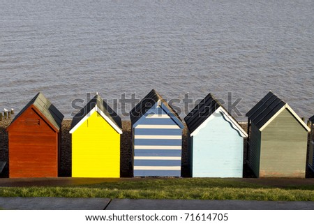 colorful beach huts, hearne bay England
