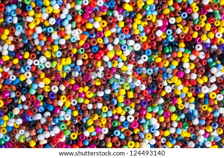 Colorful beads - stock photo