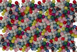 colorful beads background, on white, ball colors, glass headed pins, design elements texture