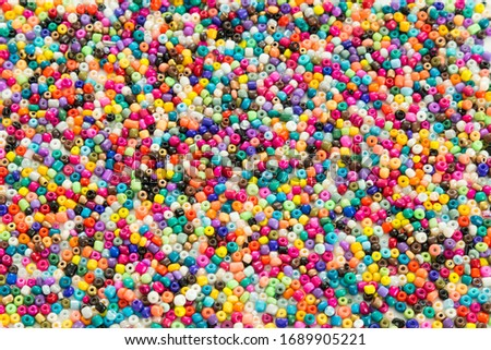 colorful beads on the white background. Foto d'archivio ©