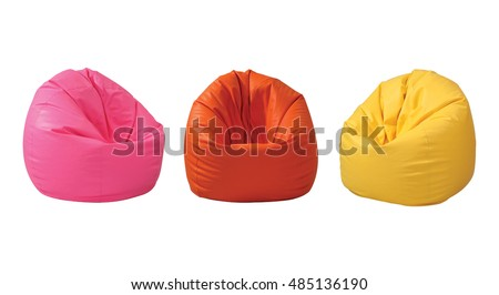 Colorful beanbag isolated on white background with clipping path.  #485136190