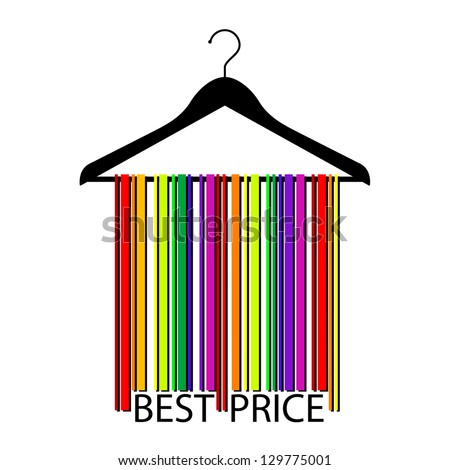 colorful BEST PRICE bar code clothes hanger,