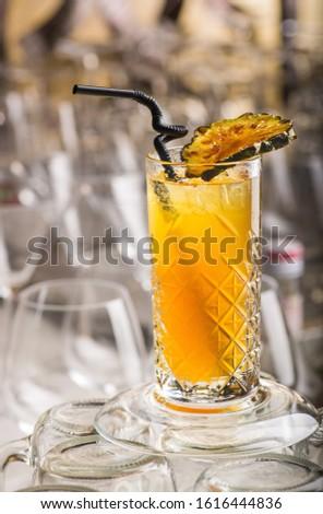 Colorful beverage front shot concept