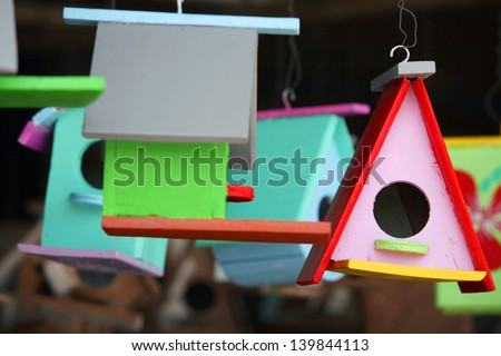 colorful birdhouse.