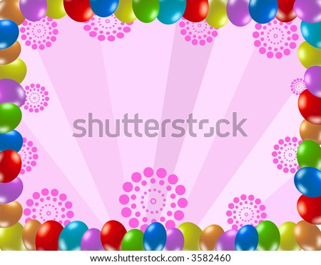 Colorful Birthday Frame Stock Photo 3582460 : Shutterst