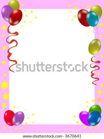 Colorful Birthday Frame Stock Photo 3670641 : Shutterst