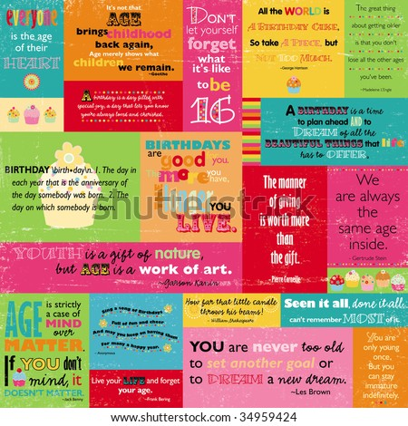 quotes for birthday. Colorful Birthday Quotes