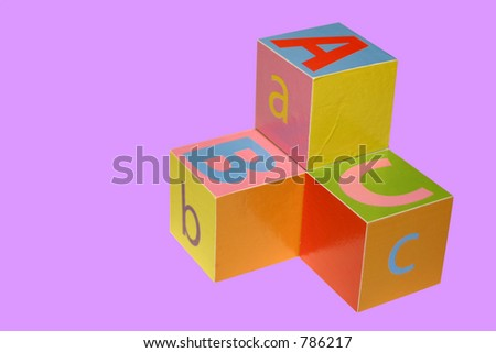 Colorful Blocks ABC. Clipping path included, easy to pick out the blocks and place them on a different background.