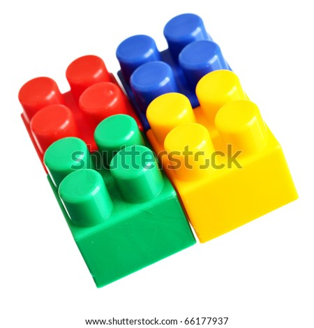 Colorful blocks isolated over the white background