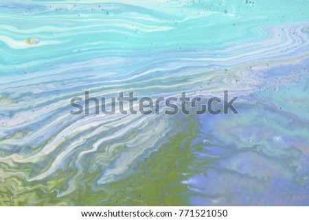 Colorful blots. Abstract background. Marble texture. Acrylic colors. #771521050