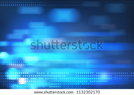 colorful blue blurry dots at abstract background. 3D rendering stock photo