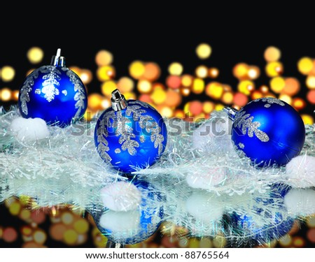 Colorful blue christmas balls