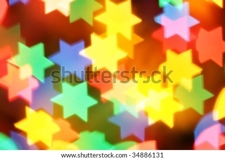 Colorful blurred stars, may be used as background