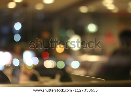 Colorful bokeh abstract background, blurred neon light, #1127338655