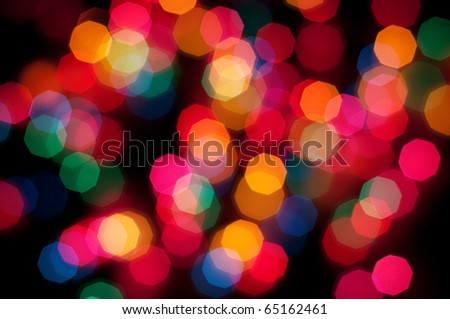 Colorful bokeh (Christmas lights)