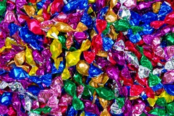Colorful bonbons texture
