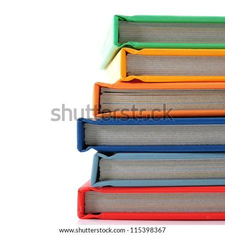 colorful book - stock photo