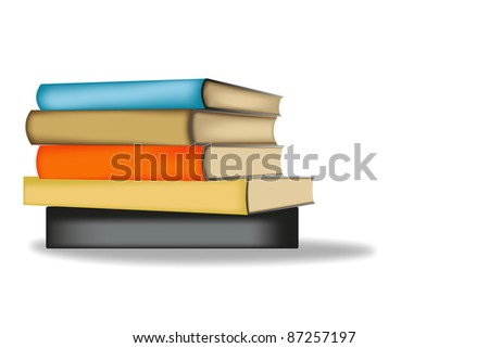 Colorful book on white