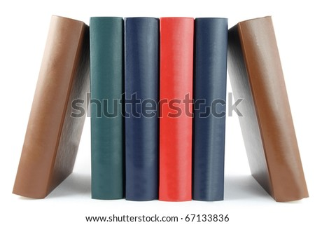 colorful books in a row