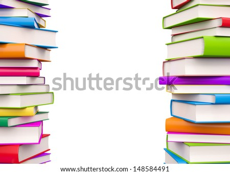 Colorful Books , Isolated on white