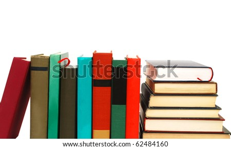 Colorful books on studying