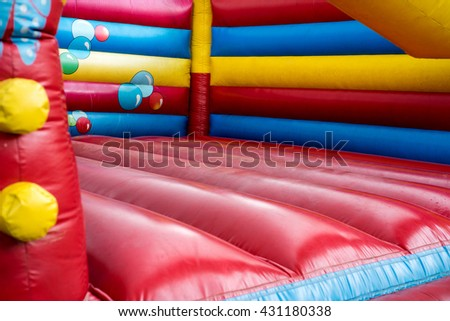 colorful bouncy castle for children / bouncy castle