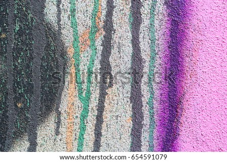 Colorful brick wall, background texture - Shutterstock ID 654591079