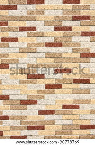 Colorful brick walls.