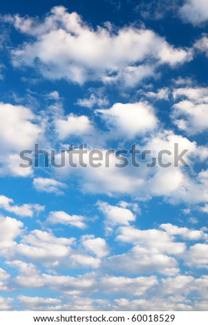 Colorful bright blue sky background.